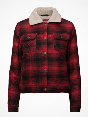 Wrangler Sherpa Jacket Red