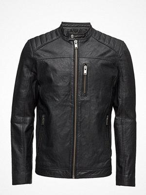 Skinnjackor - Selected Homme Shnkurt Racer Leather Jacket
