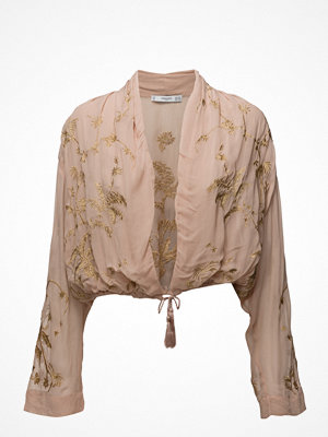 Mango Embroidered Flowy Jacket