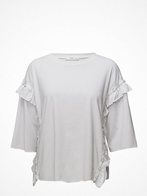Mango Ruffled Piercing Detail T-Shirt