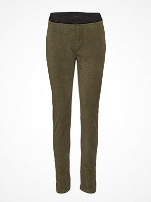 Rabens Saloner omönstrade byxor Velour Stretch Leggings