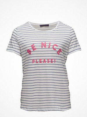 Violeta by Mango Message Striped T-Shirt