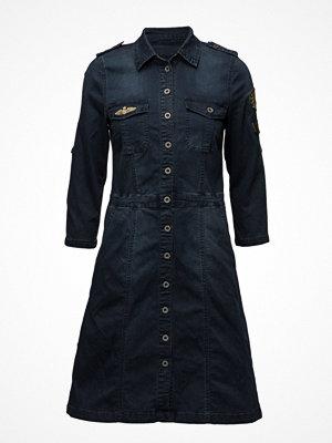 Cream Uniform Denim Dress