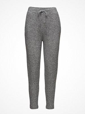 Mango ljusgrå byxor Flecked Baggy Trousers