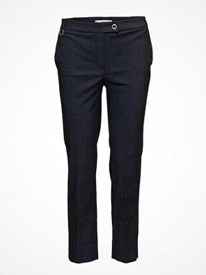 Mango svarta byxor Straight Cotton Trousers