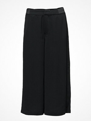 Only svarta byxor Onldemee Reg Wide Hot Cropped Pant Pnt