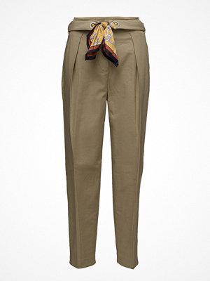 Mango omönstrade byxor Scarf Belt Trousers