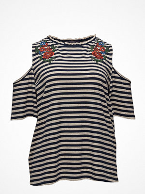 Violeta by Mango Printed Off-Shoulder T-Shirt