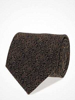 Slipsar - ATLAS DESIGN Tie Herringbone Wool