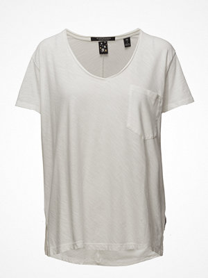 Scotch & Soda Basic Slub V-Neck Tee With Pocket