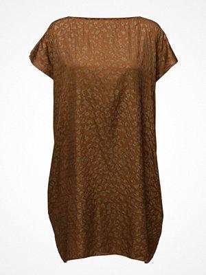 Rabens Saloner Gold Print Scarf Dress