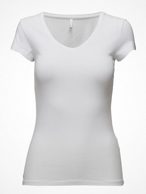 Only Onllive Love New Ss V-Neck Top Noos