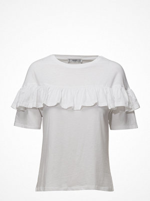 Mango Ruffle Cotton T-Shirt
