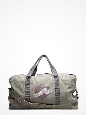 Odd Molly ljusgrå weekendbag med tryck Love Weekend Bag