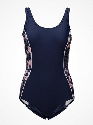 Baddräkter - Abecita Blossom, Swimsuit Navy