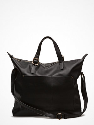 Mango svart shopper Pebbled Pocket Bag