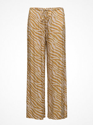 Rabens Saloner mönstrade byxor Zebra Wide Leg Pants