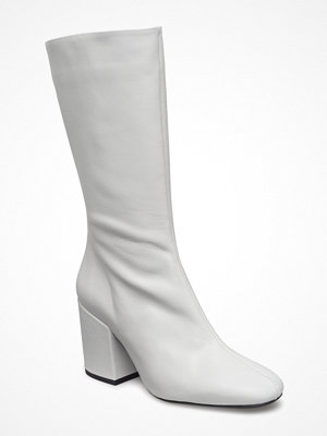 Mango Zipper Leather Boots
