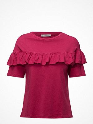 Mango Ruffle Cotton T-Shirt