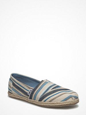 Tygskor & lågskor - Toms Blue Aster Woven Stripe Rop Alpargata