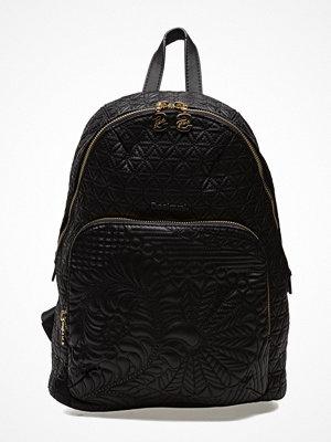 Desigual Accessories svart mönstrad ryggsäck Bols Lima  Lottie