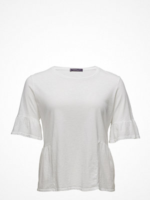 Violeta by Mango Ruffle Cotton T-Shirt