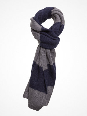 Halsdukar & scarves - Scotch & Soda Scarf In Brushed Wool Blend Quality And Block Stripe Pattern