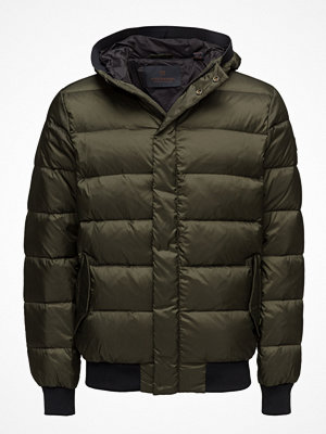Scotch & Soda Quilted Down Bomber Jacket In Nylon Quality With Hood