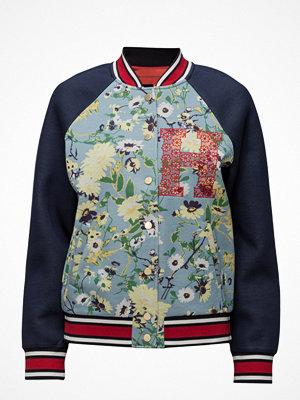 Hilfiger Collection marinblå bomberjacka Floral Bomber Jkt