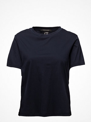 T-shirts - Scotch & Soda Boxy Fit High Neck Tee In New Clean Jersey Quality