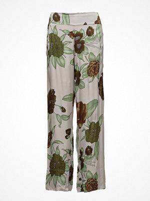 Rabens Saloner mönstrade byxor Megaflower Wide Leg Pants