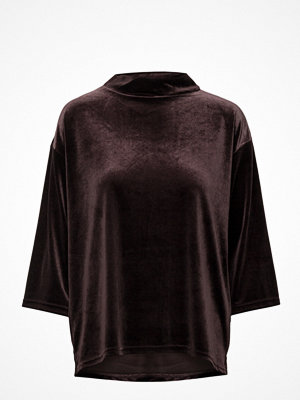 Saint Tropez Velvet Blouse W Wide Sleeves