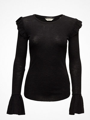 Toppar - Scotch & Soda Long Sleeve Wool Top With Ruffles