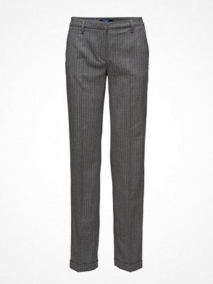 Gant mörkgrå randiga byxor O1. Pinstripe Wide Pants