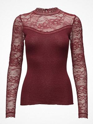 Rosemunde Silk T-Shirt Regular Ls W/Lace
