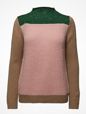 Scotch & Soda Colour Blocked High Neck Knit In A Mix Of Yarns