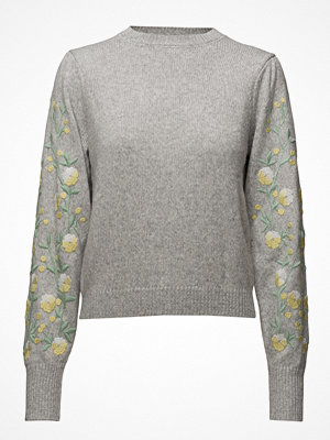 Mango Flower Embroidered Sweater