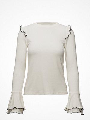 Toppar - Mango Ruffles Ribbed T-Shirt