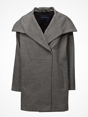 French Connection Bennie Wool Ls Wide Collr Coat