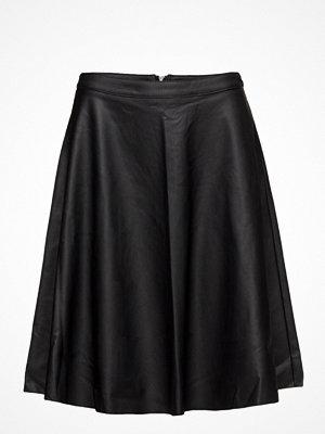 Kjolar - Only Onlcelina Faux Leather Knee Skirt Otw
