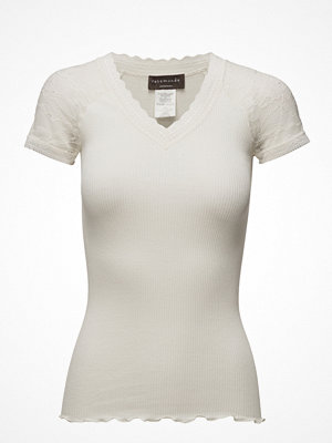 Rosemunde Silk T-Shirt Regular Ss W/Lace