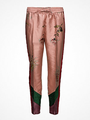 Scotch & Soda persikofärgade byxor med tryck Tailored Pant With Colour Blocked Panels