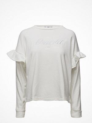 Mango Ruffled Embroidered Sweatshirt