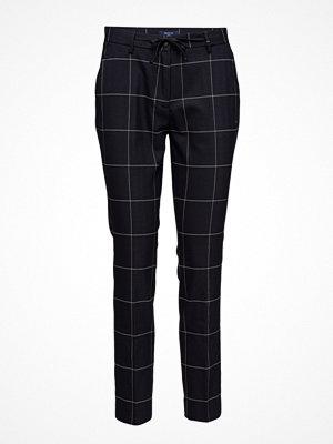 Gant svarta rutiga byxor O2. Check Stretch Pants