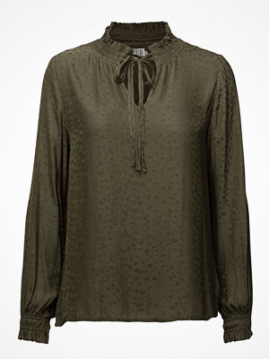 Blusar - Saint Tropez High Neck Blouse W Smock