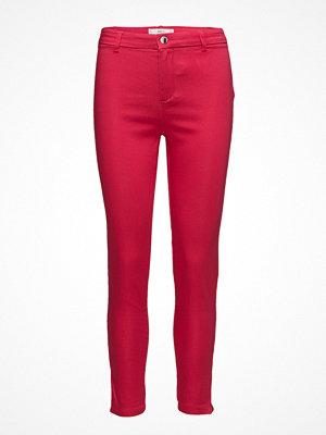 Mango röda byxor Zip-Pocket Slim-Fit Trousers