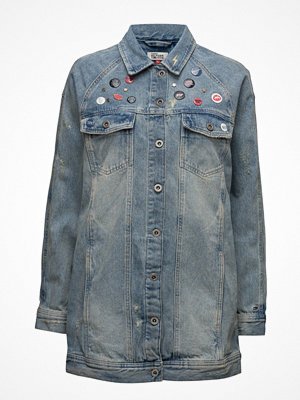 Jeansjackor - Tommy Jeans Thdw Long Oversized Jacket Remibl