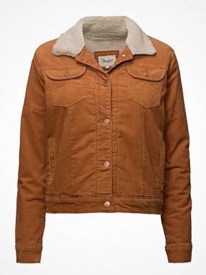 Wrangler omönstrad bomberjacka Sherpa Jacket Adobe Brown