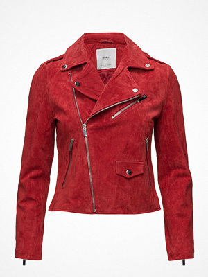 Mango Zip Leather Jacket