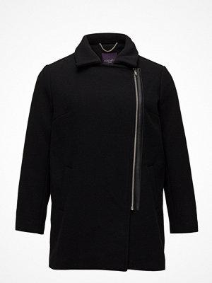 Violeta by Mango Asymmetric Zip Coat
